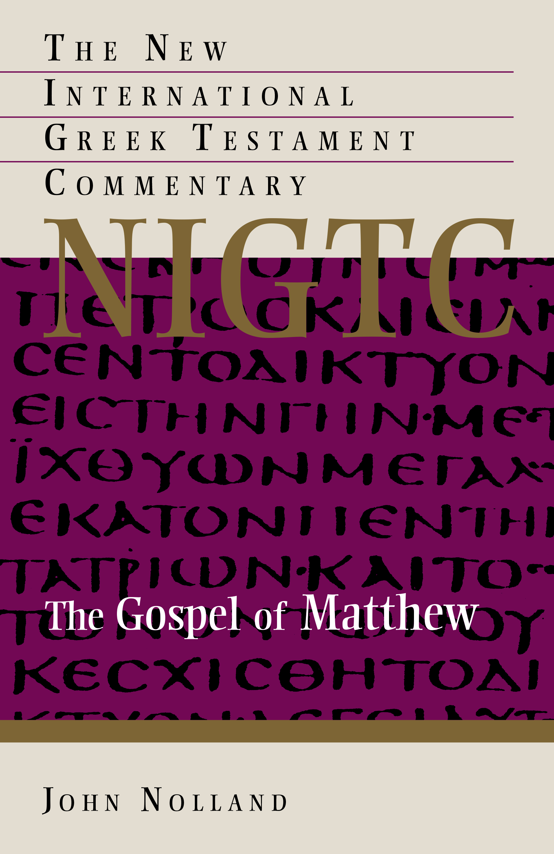 an analysis of the new american commentary matthew by blomberg The new american commentary: matthew by craig l blomberg the new american commentary: matthew author: craig l blomberg publisher: broadman press about craig blomberg craig l blomberg is the distinguished professor of new testament at denver seminary, acquiring his phd from the.