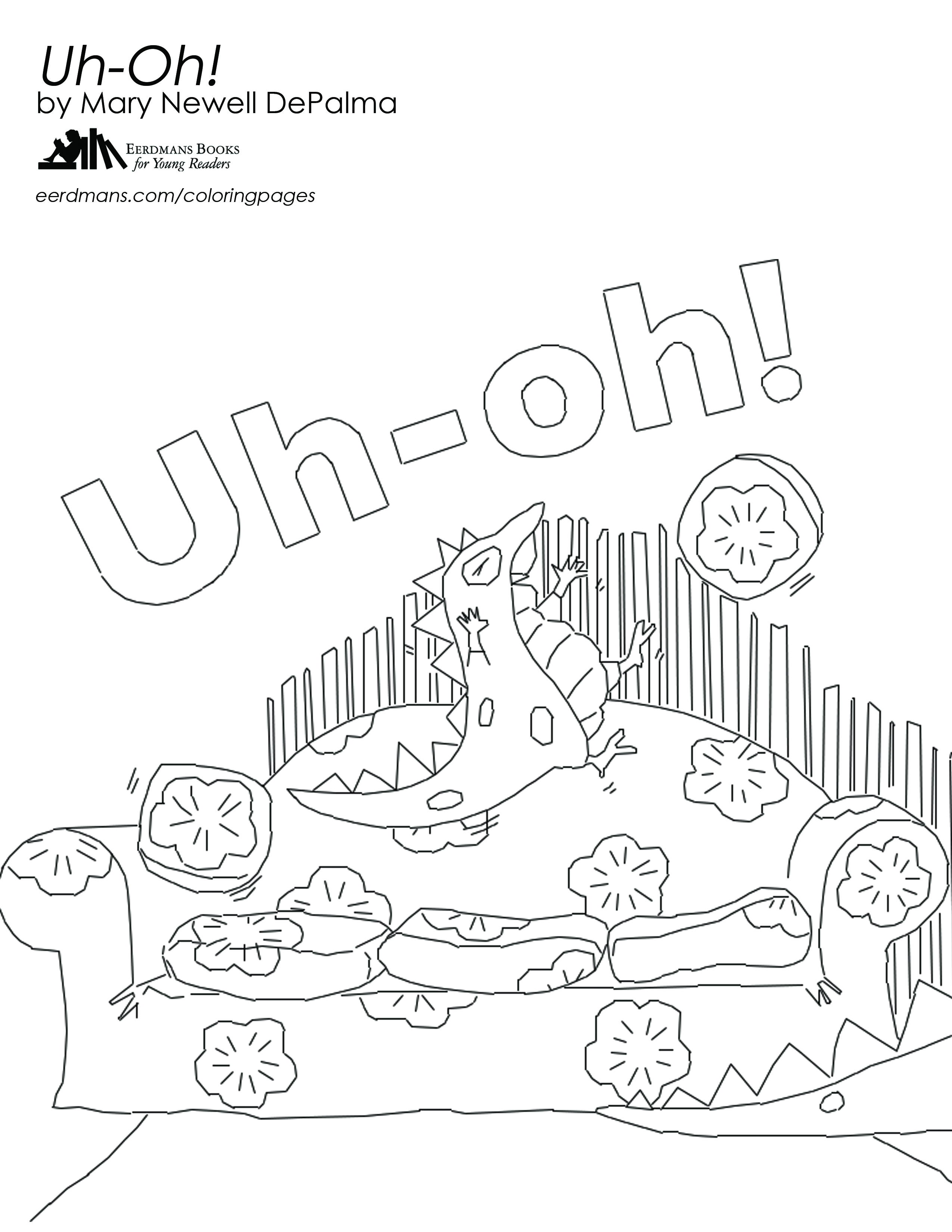 Uh-Oh coloring page